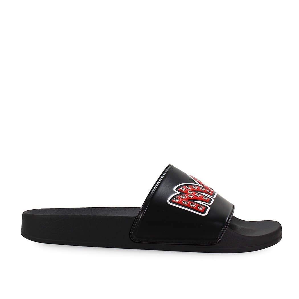 Alexander McQueen MCQ Mens 547040R25891064 Black Rubber Sandals