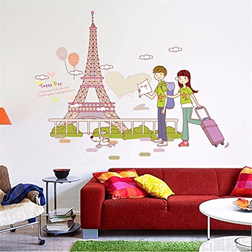 Tower Small Poster - Ghaif Wall stickers ideas bedrooms are cozy and cute little fresh dorm room wall decorations posters Tower Small couples 5070CM