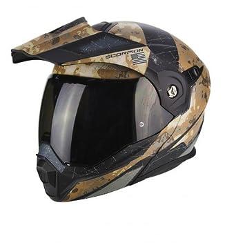 Scorpion motocicleta cascos, color negro/arena, tamaño XS