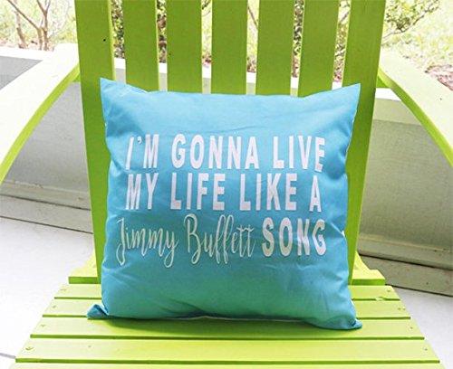 Caribbean Pillowcase - Jimmy Buffett Pillowcase | Jimmy Buffett Decor | Margaritaville Decor | Florida Decor | Caribbean Decor | Tropical Decor | Gift for Her | Summer Pillow Cover