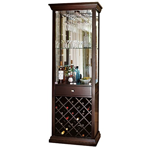 Chalk Hill Wine Bar Chocolate Cherry Finish | WF578-C, #2328 - Cherry Hill Wine Cabinet