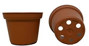 Seed Kingdom 200 New 3 Inch Plastic Nursery Pots ~ Pots are 3 Inch Round at The Top and 2.25 Inch Deep. Color: Terracotta