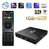ESHOWEE X96 Android 7.1 TV Box Amlogic S905W Quad-core 1 GB Ram 8 GB ROM Quad Core 4K UHD WiFi & LAN VP9 DLNA H.265