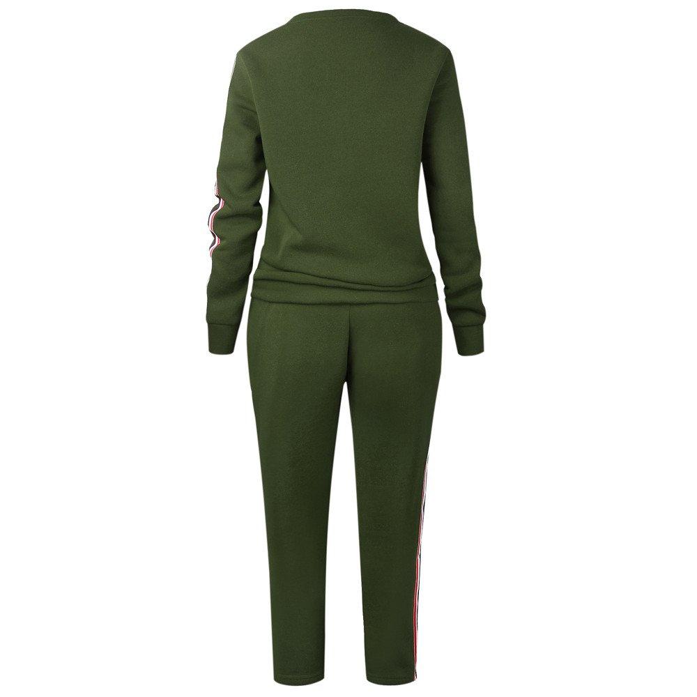 Sudadera con Capucha Pantalones Largo Conjunto Ch/ándal Deportivo para Mujer 2 Piezas Pullover Chaqueta para Yoga Deporte Fannyfuny