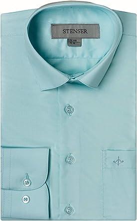 STENSER C23 - Camisa de uniforme escolar para niño, color verde menta