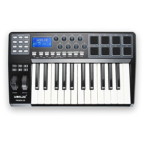 Worlde Panda 25 MIDI USB Keyboard Controller 25-Key with 8 Pads by Worlde
