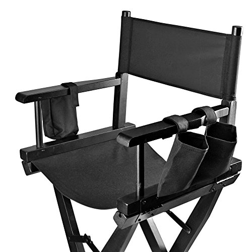 Flexzion Makeup Chair Artist Directors Actor Wood Stool Professional Light Weight Bar Height