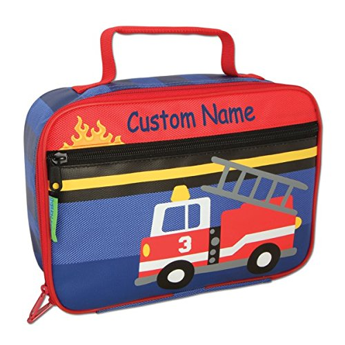 Personalized Classic Fire Truck Lunch Box - CUSTOM NAME Fire Truck Lunch Box