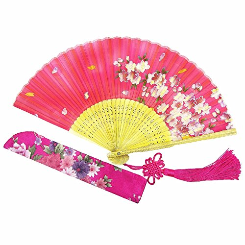 Wise Bird Chinese Japanese Folding Hand Fan for women,
