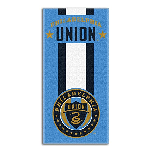 The Northwest Company Officially Licensed MLS Philadelphia Union Zone Read Beach Towel, 30