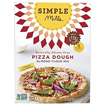 Simple Mills Pizza Dough Baking Mix, 9.8 Ounce Boxes (Pack of 3)