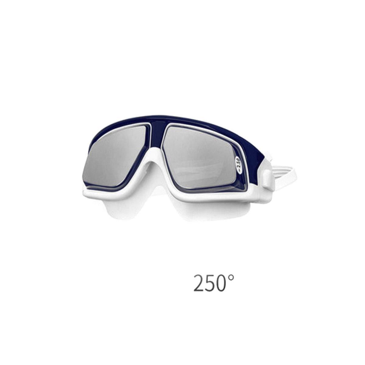 blueee 250° Jiansheng01 Goggles, HD Waterproof UV Predection Large Frame Goggles, Myopia Diving New Equipment Design,blueee 250° Myopia Version Noble