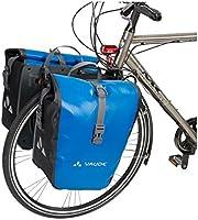 VAUDE Aqua Front –Alforjas delanteras para bicicleta, Juego de 2 bolsas adaptables a la carga e impermeables , Azul, 28 L (2 X 14 L): Amazon.es: Deportes y aire libre