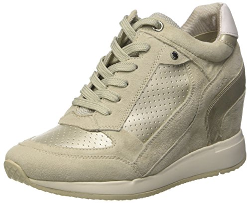 Nydame Hautes D Geox A Femme ivory platinumc0997 Sneakers Ivory w45fF5nq