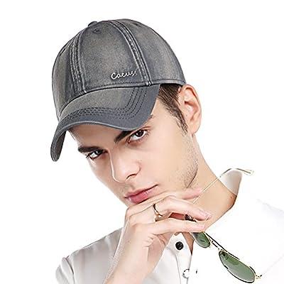CACUSS Men's Cotton Classic Baseball Cap with Adjustable Buckle Closure Dad Hat