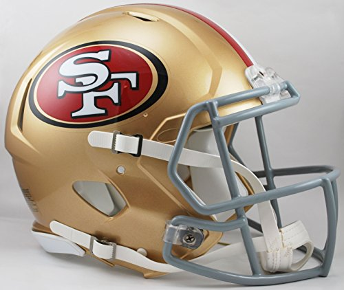 Authentic Riddell Mini Helmet Football - NFL San Francisco 49ers Speed Authentic Football Helmet