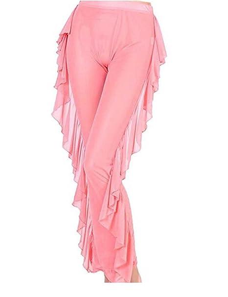 03d934d300 Rachel Charm Sexy Women High Waist See-Through Ruffle Sheer Bikini Bottom  Cover-up