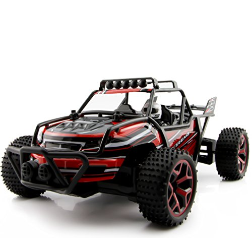Zhencheng 1/18 Scale Electric RC Truck 2.4Ghz 4WD High Speed RC Car Buggy Toy,Red