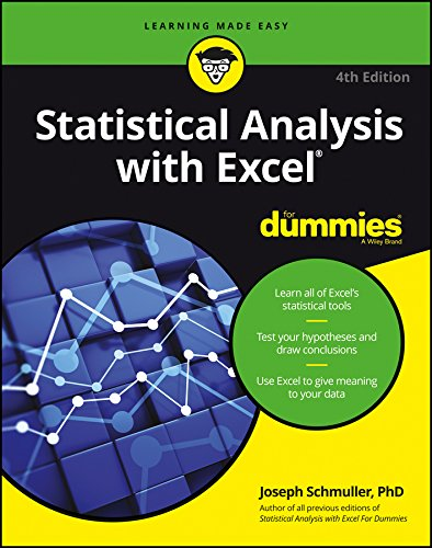 Statistical Analysis with Excel For Dummies cover