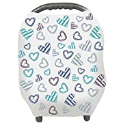 Baby Car Seat Covers - Privacy Nursing Cover Breastfeeding Scarf Car Seat Canopy, Shopping Cart, Stroller, Carseat Covers for Boys and Girls - Best Multi Use Infinity Stretchy Shawl by YOOFOSS