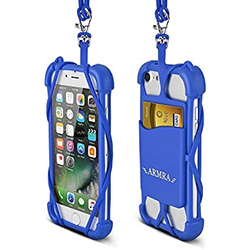 2 in 1 Cell Phone Lanyard Strap Case, Universal Smartphone Neck Laniard Shockproof Cover with