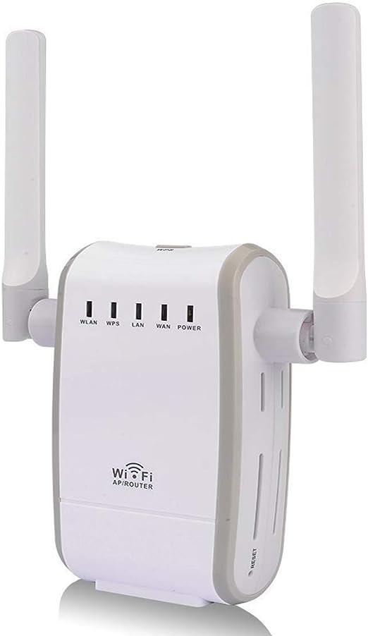 Amplificador DHMXDC Wireless-N 300 Mbps para WiFi, router/repetidor/AP/WPS, antena inalámbrica exterior dual pequeña, amplificador de señal, punto de ...