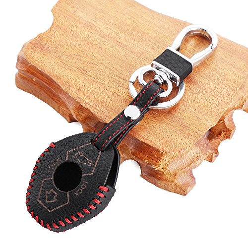 VCiiC Genuine Leather Car Remote Smart Key Case Cover Fit for BMW 3 5 7 SERIES E38 E39 E46 X3 X5 Z3 Z4 325i 525i 330i (Bmw X5 Leather Case compare prices)