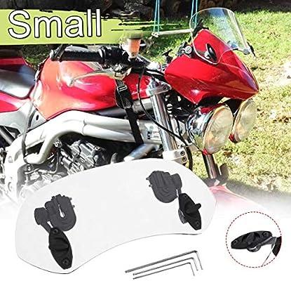 Motorcycle Windscreen//Motorcycle Universal Adjustable Windscreen Wind Deflector Windshield
