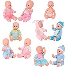 9 Sets for 14-16 Inch Alive American Girl Clothing Dress Baby Doll Clothes Costumes Gown Handmade Outfits with Underwear Birthday New Year Gift-wrap