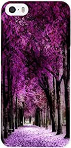 Purple Trees For iPhone 5 / 5s Case Plastic Case Cover iPhone 5 / 5s Case