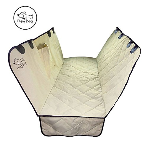 Floppy Dawg Back Seat Pet Cover Made of Water Resistant, Scratch Proof 600D Oxford | Installs in Minutes | Fits Most Cars and SUVs