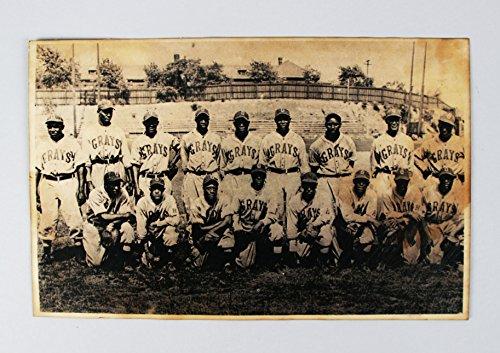 Vintage Negro Leagues Homestead Grays Baseball Team Photo Featuring Josh Gibson