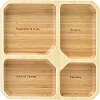 Square Dish Healthy Separation Plate, Cereals, Cegetables, Protein, Keep Health Ratio Per Meal,Square Dish