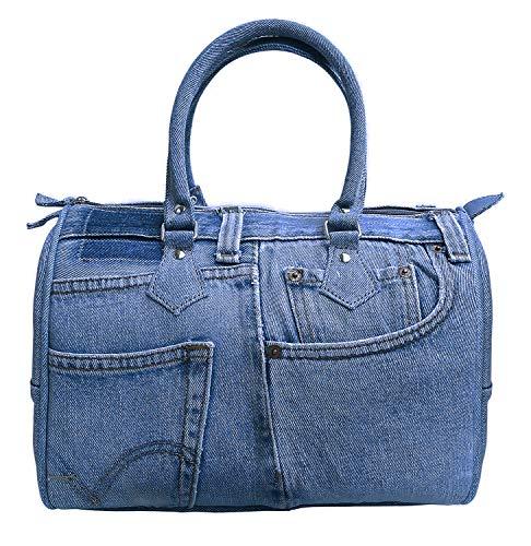 - Bijoux De Ja Women Doctor Style Blue Denim Purse Handbag ML100