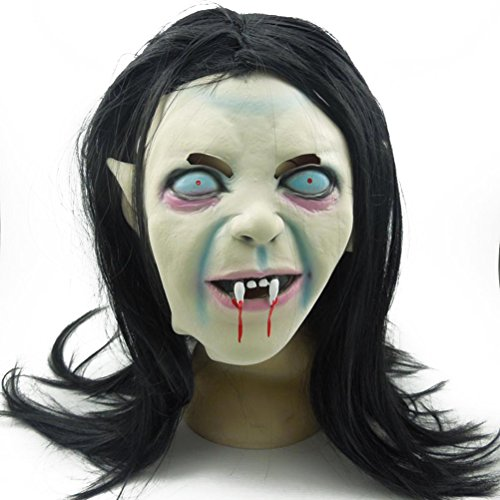 Sadako Costume (WINOMO Halloween Masks Creepy Terrifying Toothy Zombie Ghost Sadako Masks)