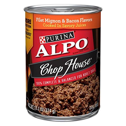 Purina Alpo Chop House Filet Mignon & Bacon Flavor Adult Wet Dog Food - (12) 13.2 Oz. Cans