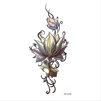 JIA Flor impermeable mujeres tatuaje pegatina color dibujo flor ...