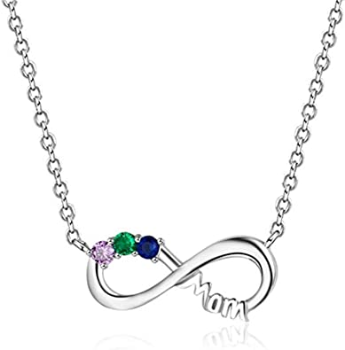 Or Rose Infinity Collier avec personnalisée nom et cœur-onecklace ®