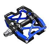 Mzyrh Mountain Bike Pedals, Ultra Strong Colorful CNC Machined 9/16' Cycling Sealed 3 Bearing Pedals