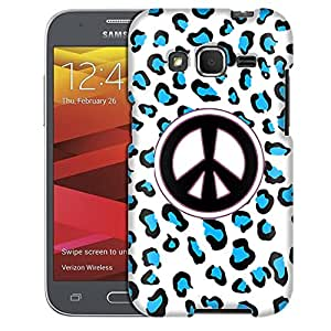 Samsung Galaxy Prevail LTE Case, Slim Fit Snap On Cover by Trek Peace Blue Leopard Case