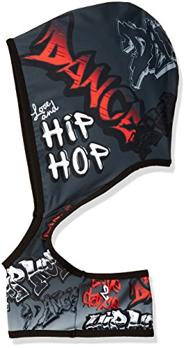 Hip Hop Dance Costumes For Girls (Gia-Mia Dance Big Girls' Hip Hop Dance Hoodie Stretch Top Printed Costume Performance Team, Multi, S)