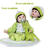 Gbell 22 Inch Silicone Reborn Doll Baby Girl,Adorable Realistic Baby Doll Pacifier,Bottle & Giraffe Doll- Lifelike Newborn Playmate Doll Birthday Gifts Toy Girls Kids Toddlers (Multicolor)