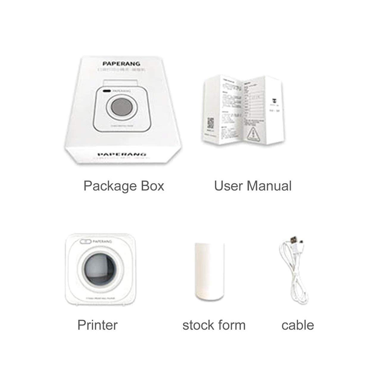 shengerm Paperang P1 Small Size Wireless 4.0 Mobile Phone Instant Photo Printer Digital Picture Printing 1000MAH Battery