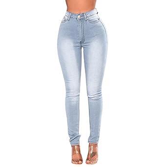 a8c4e88572cf0 Familizo Jeans Femme Taille Haute, Jeans Slim (X-Large, Noir ...