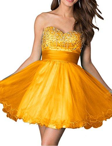Mini Gold Ballkleider Cocktailkleider Gelb Dunkel mia Promkleider Abendkleider Tanzenkleider Abiballkleider La Braut Kurz 7WHgZwHtq