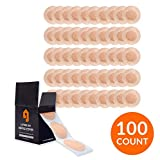 LIVING JIN Nipple Guards, Anti-Chafing Nipple Cover Sets for Runners, 50 Pairs(100pcs), Nipple Tape, Nip Protectors, Nipple Stickers, Adhesive Bandage