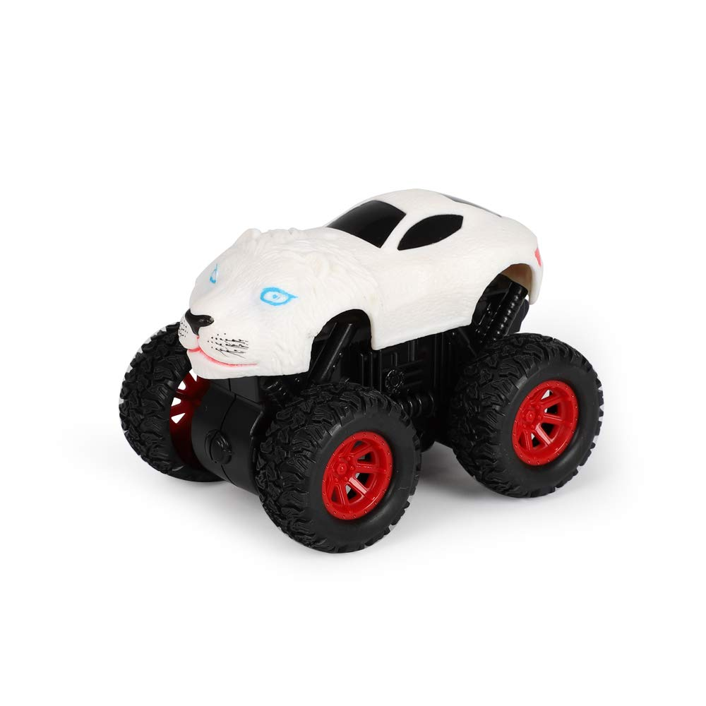 Pull Back Car, Lion Model DIY, Two Drive Modes, Environmentally Friendly Materials, Children'S Toys Children'S Toys White CLCYL