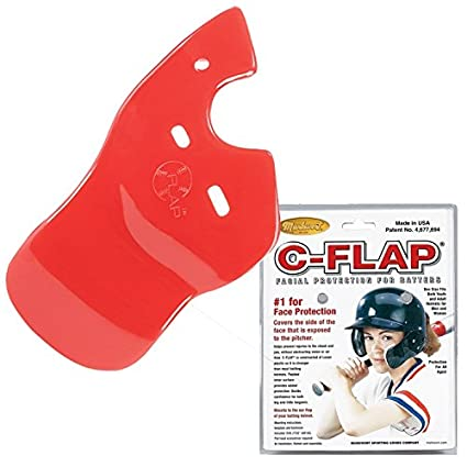 Red Right C-Flap (Left Handed Hitter) Batters Helmet Face Protector Attachment (
