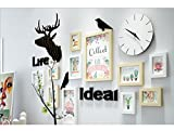 ALUS- 11 Multi Photo Frames Set Simple Nordic Style Creative Living Room Bedroom Photo Picture Wall Frame
