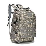 SUNMENCO Playerunknown's Battlegrounds PUBG Level-3 Instructor Backpack Rucksack Camouflage Backpack Men's Camping & Hiking Bag Student Double Shoulder Bag for PUBG WINNER WINNER Chicken Dinner